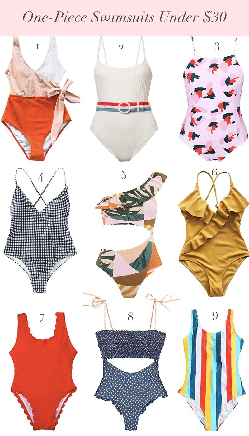 One Piece Swimsuits Under 30 On Amazon Nordstrom Giveaway Cute One Piece Swimsuits Fashion Top Fashion Bloggers