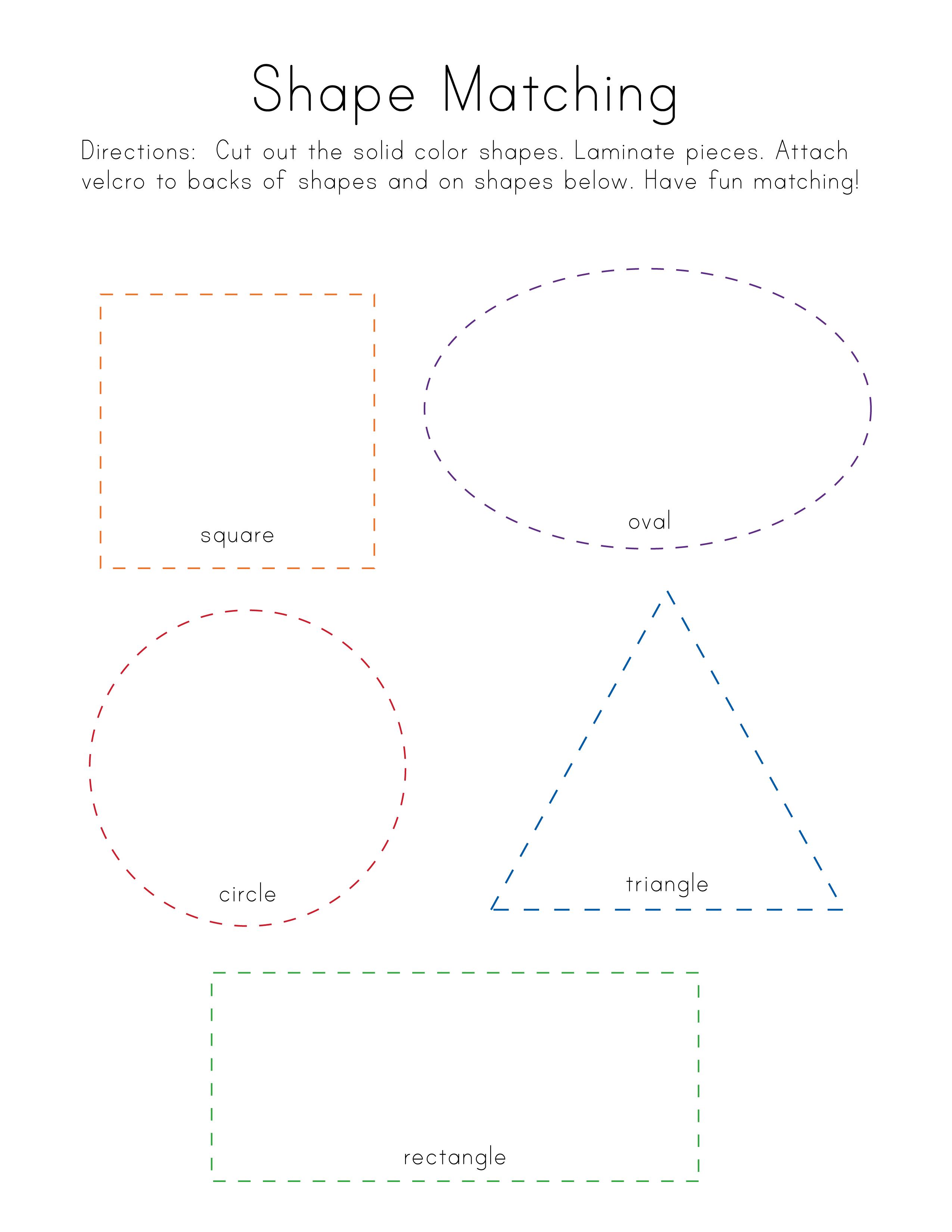 Shape Matching Free Printable