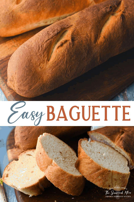 Easy French Baguette Recipe In 2021 Baguette Recipe Recipes French Baguette Recipe