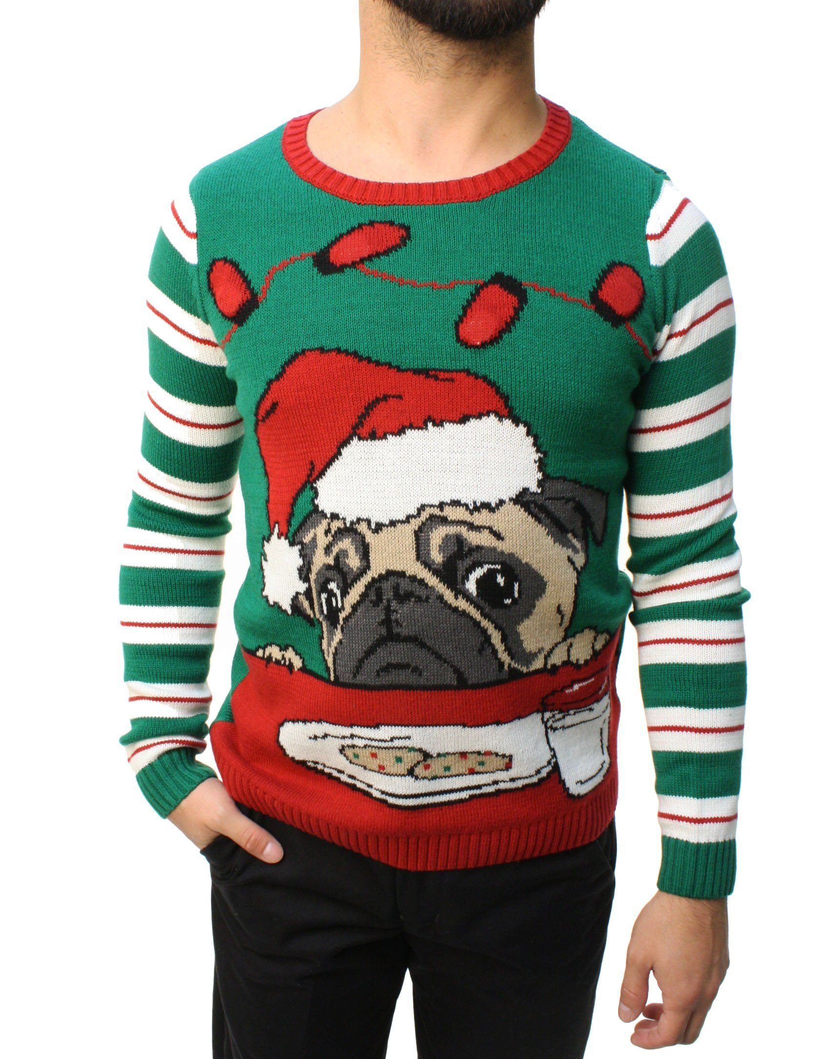 Ugly Christmas Sweater Led Pug With Cookies Sweater Nordstrom Rack ...