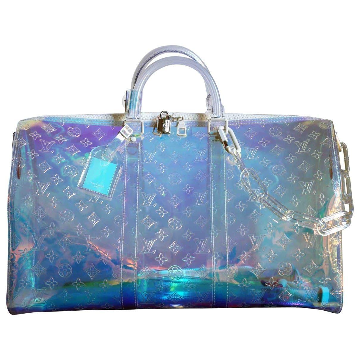 Keepall Prism Weekend Bag Louis Vuitton Silver In Plastic 6894173 Louis Vuitton Duffle Bag Bags Designer Fashion Louis Vuitton Handbags