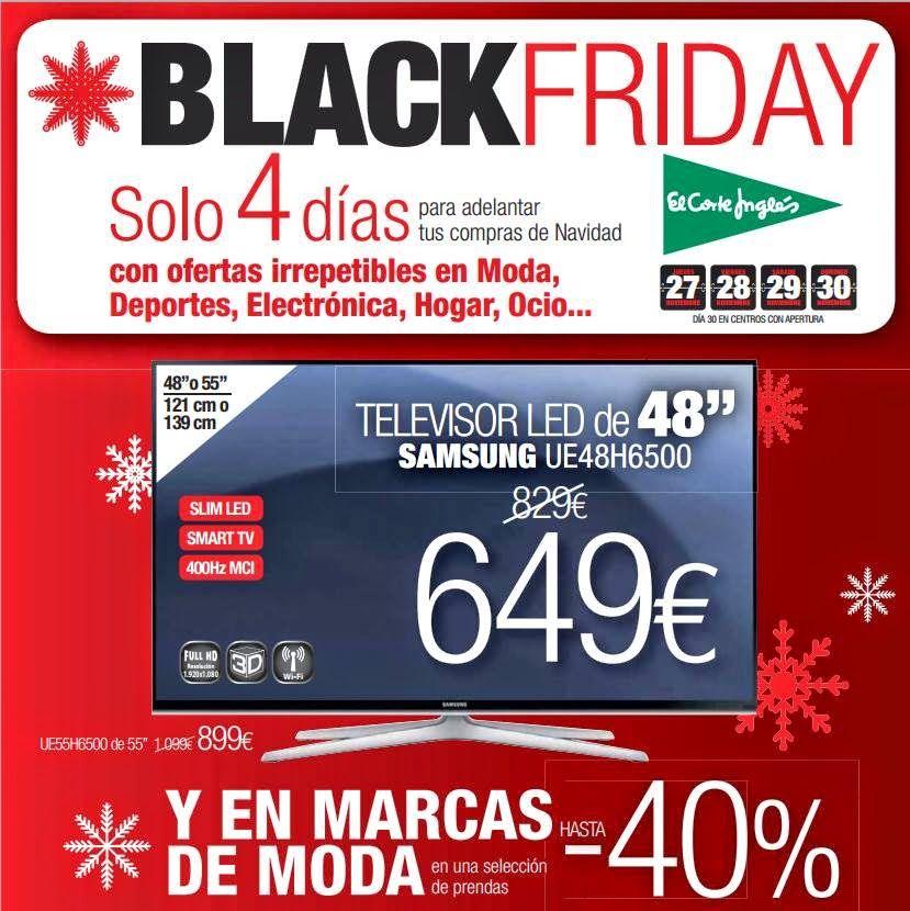 Catalogo Black Friday 2014 El Corte Ingles