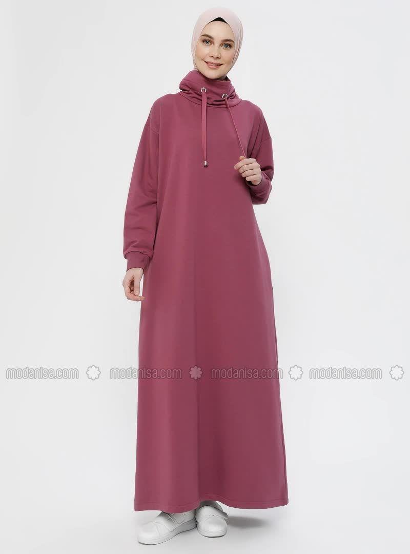 Bogazli Yaka Cepli Elbise Gul Kurusu In 2020 High Neck Dress Fashion Dresses