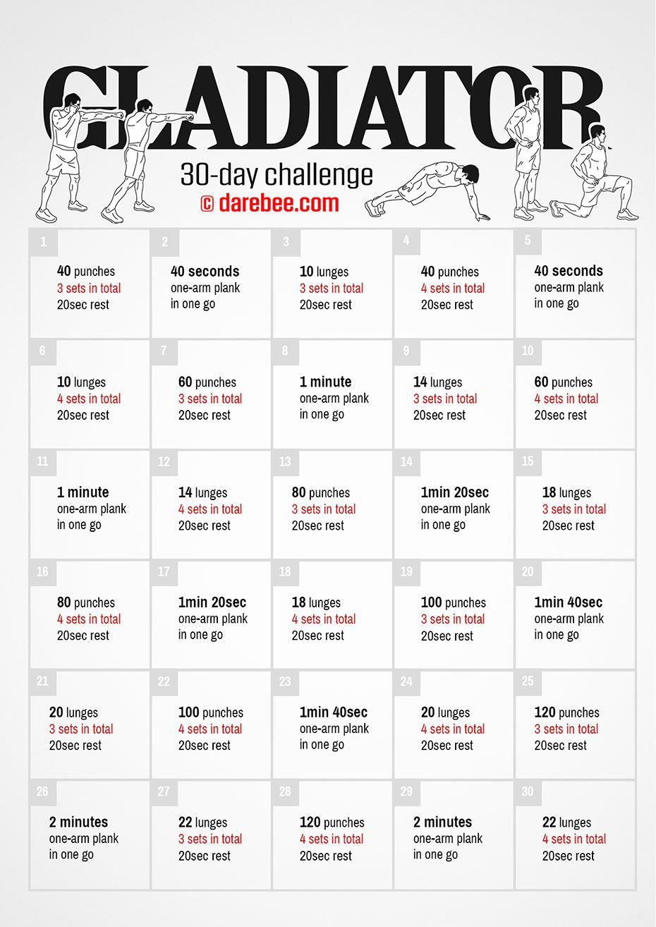 30-day fitness challenge by darebee | neilarey/darebee | workout