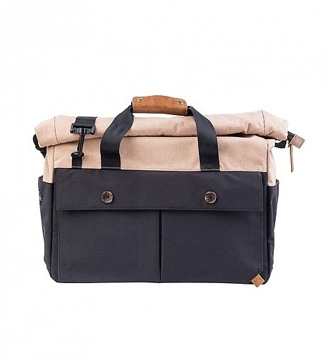 """PKG Rolltop Briefcase -Canadian brand-15"""" laptop compartment-Made to fit 15""""  Macbook Pro (fits up to most laptops)-Interior dimensions  H15.5"""" x W11"""" x  ... bc4bf68448f51"""