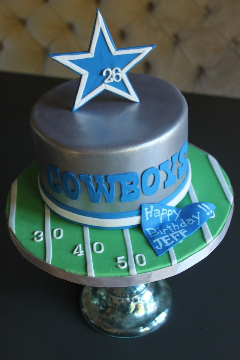 Inspired Photo Of Cowboys Birthday Cake Dallas Just Jpg 810x1214