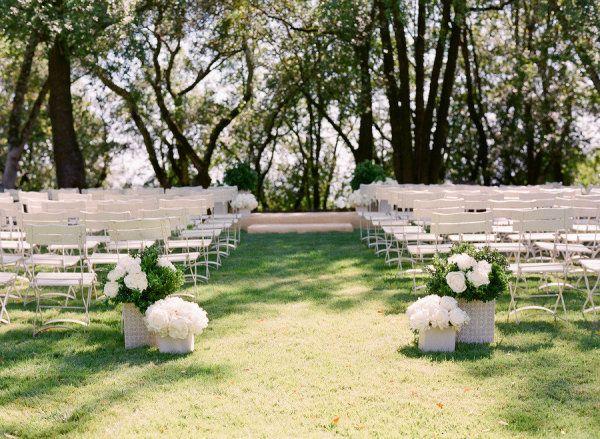 Garden ceremony chairs.
