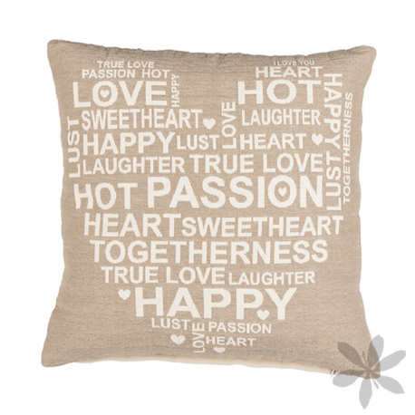 """""""HAPPY HEART"""" Apuesta por diseños contemporáneos que llenarán tu hogar de modernidad y confort, apuesta por este #cojín con original estampado en forma de corazón que te seducirá. 12,00 €"""