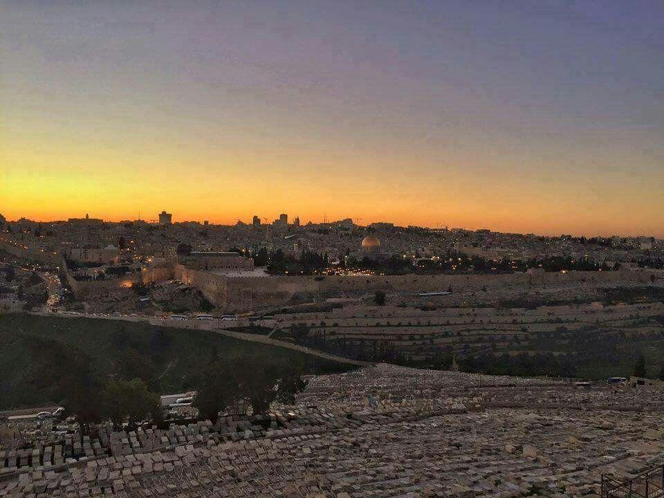 The Beauty Of The Sunset From The City Of Jerusalem Palestine غروب الشمس من مدينة القدس فلسطين Sunset Celestial History