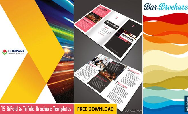 15 free corporate bifold and trifold brochure templates free download now