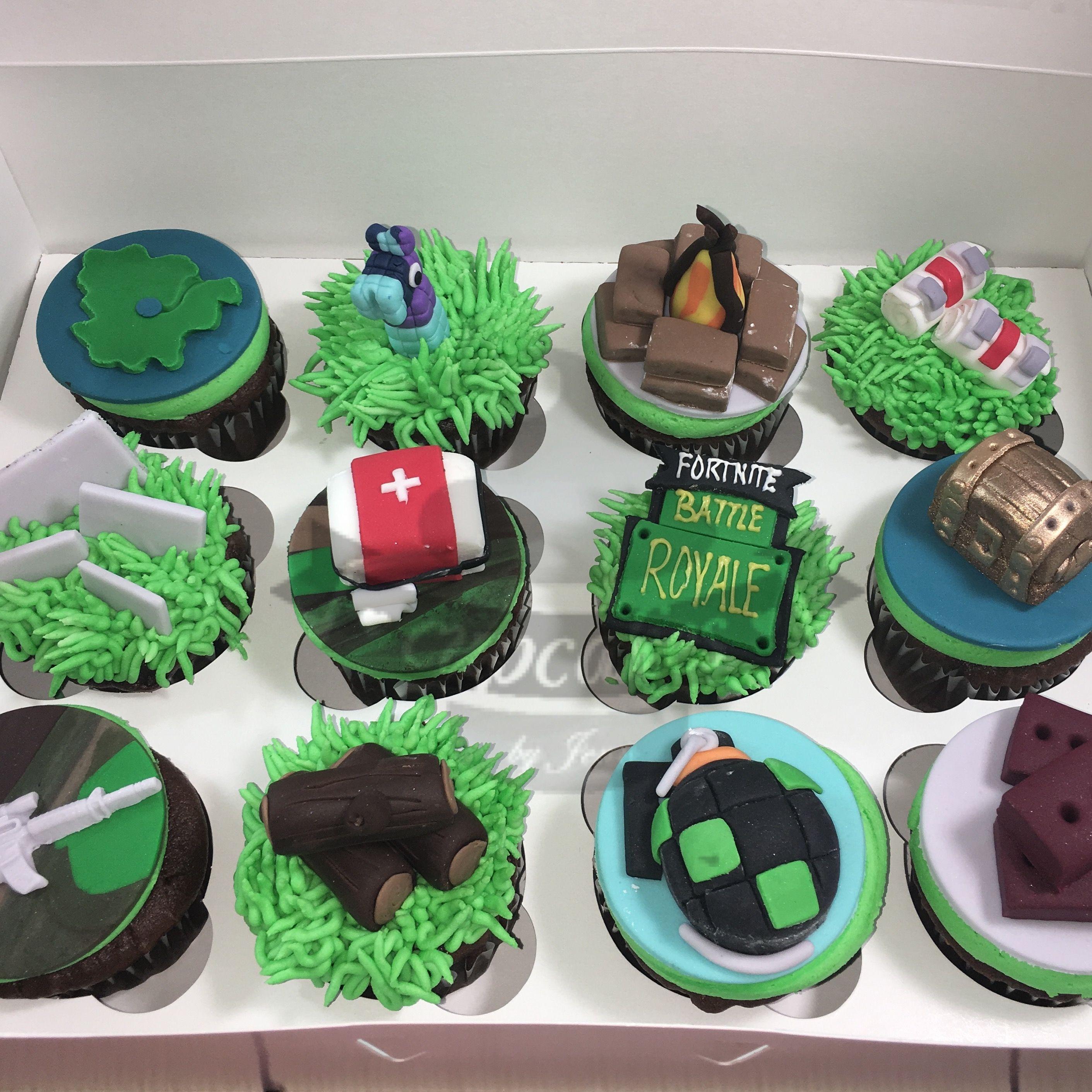 Fortnite Cupcakes Cupcakes In 2019 Birthday Cupcakes