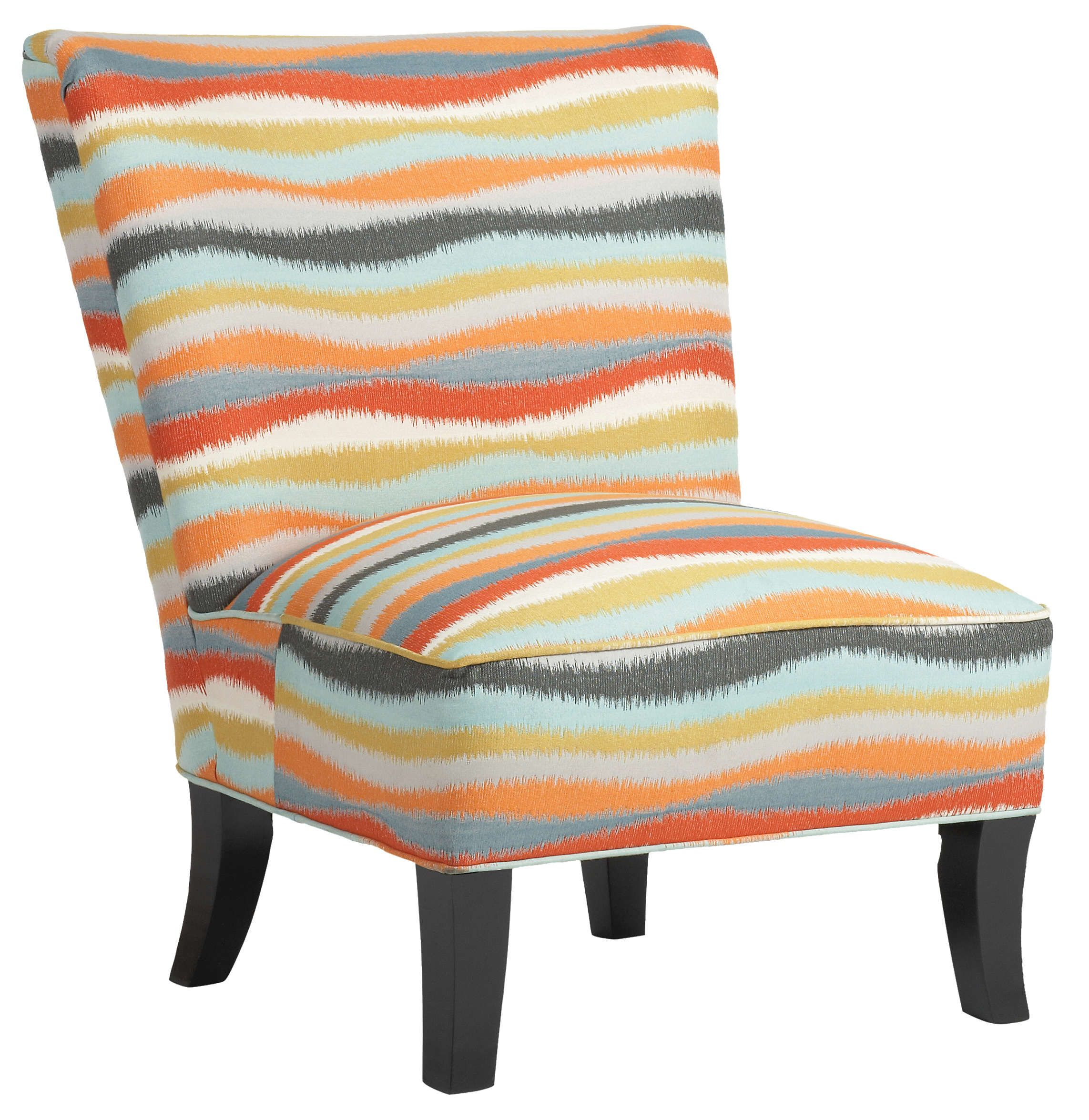 Cindy Crawford designed the Venus armless accent chair with a