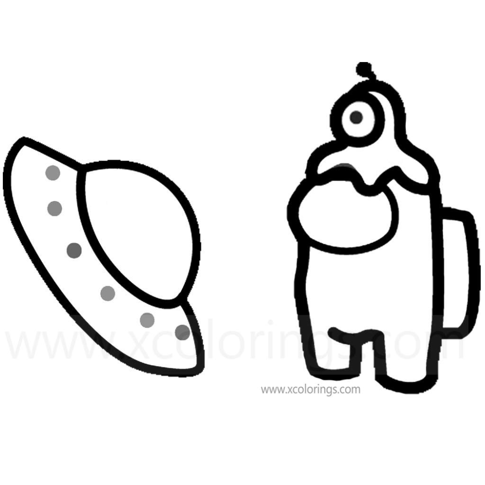 Among Us Coloring Pages One Eye Alien Monster Hat Coloring Pages Squirrel Coloring Page Monster Hat