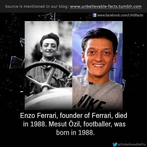 Its A Fact Ferrari Unbelievable Facts Mesut Ozil