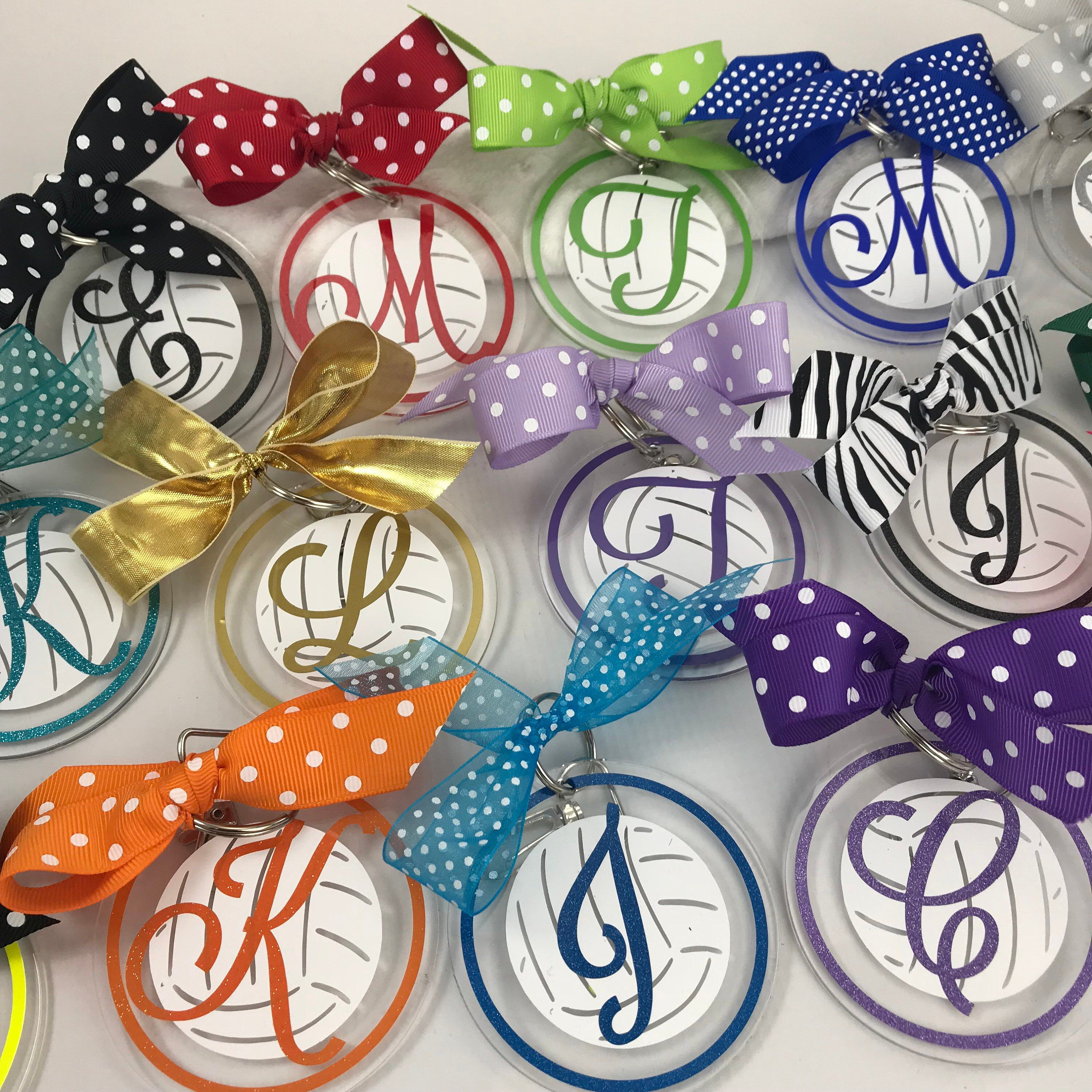 Volleyball Bag Tag With White Ball And Fancy Script Initial Etsy Volleyball Bag Tags Volleyball Bag Volleyball Gifts