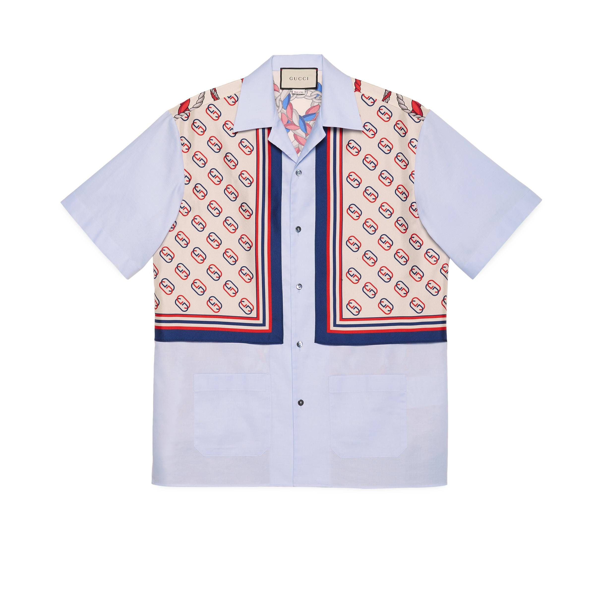 e25273da0b89 GUCCI OXFORD COTTON AND SILK BOWLING SHIRT. #gucci #cloth | Gucci in ...