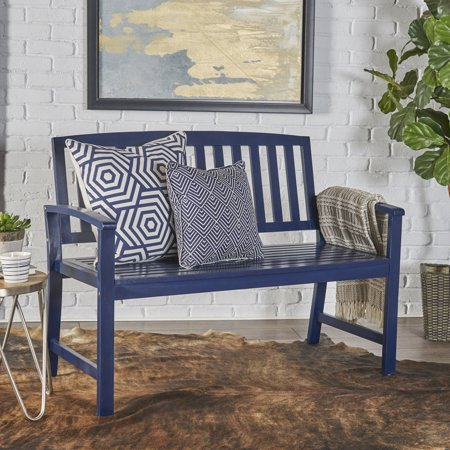 Fine Noble House Carrie Acacia Wood Bench Navy Blue In 2019 Cjindustries Chair Design For Home Cjindustriesco