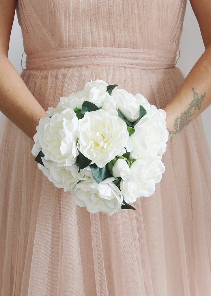 Silk Gardenia Bouquet In White 8 8 5 Tall Silk Wedding Bouquets Gardenia Bouquet Silk Flowers Wedding
