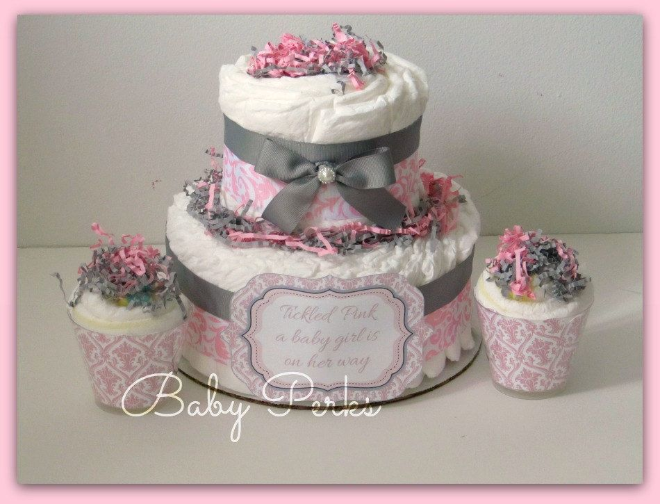Attractive Pink Gray White Baby Shower   Google Search @MoniNthemiddle Make This Too  Lol