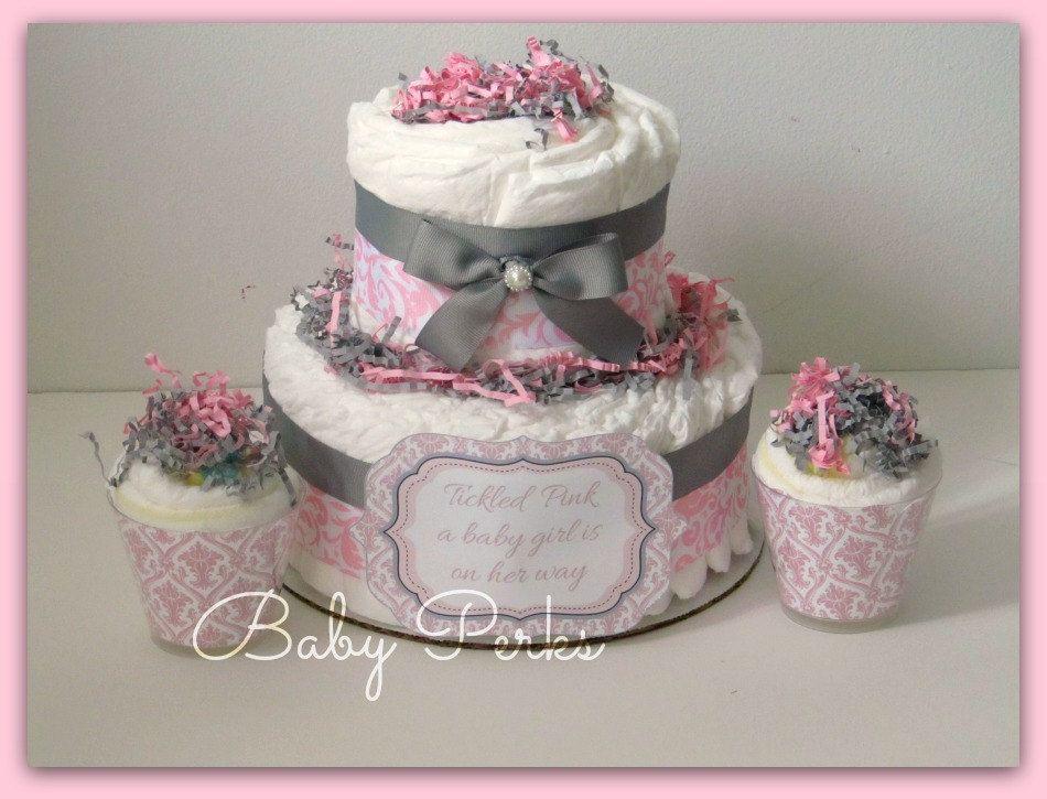 pink gray white baby shower Google Search MoniNthemiddle make