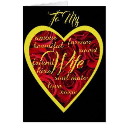 to my wife lovely words card saint valentines day gift idea couple love girlfriend boyfriend