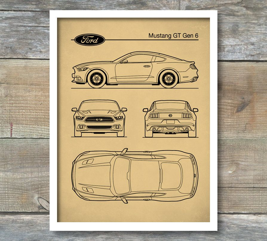 Auto art patent print car art ford mustang gen 6 blueprint ford auto art patent print car art ford mustang gen 6 blueprint ford mustang poster ford mustang art ford mustang decor p454 malvernweather Gallery