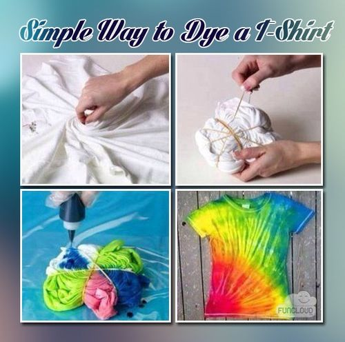 easy way to Tie-Dye