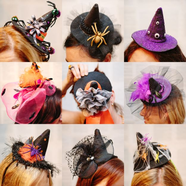 DIY Witch Fascinator Hats  836d6cc724f15