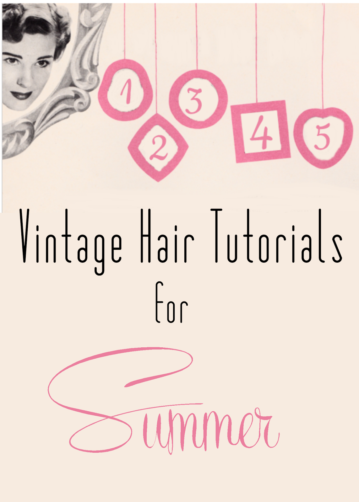 easy vintage hairstyles for summer vintage styling pinterest