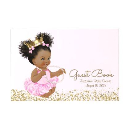 African american princess baby shower guest book baby gifts african american princess baby shower guest book baby gifts child new born gift idea diy negle Images