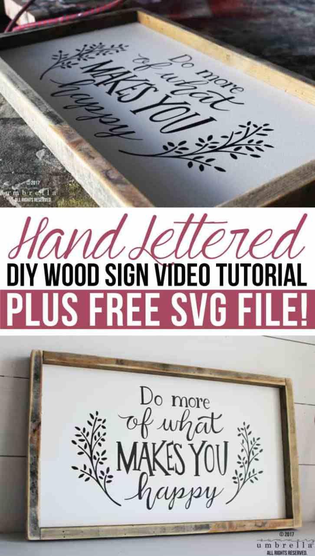 Hand Lettered Diy Wood Sign Video Tutorial Hand Lettering Diy