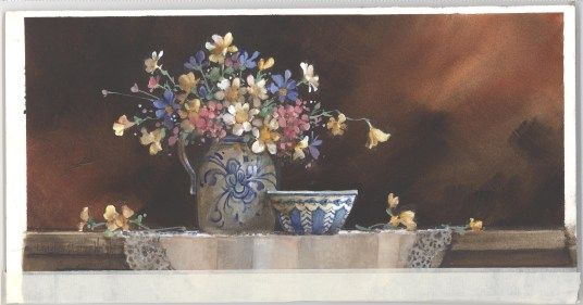 BlueWhiteBowl - Carolyn Shores Wright