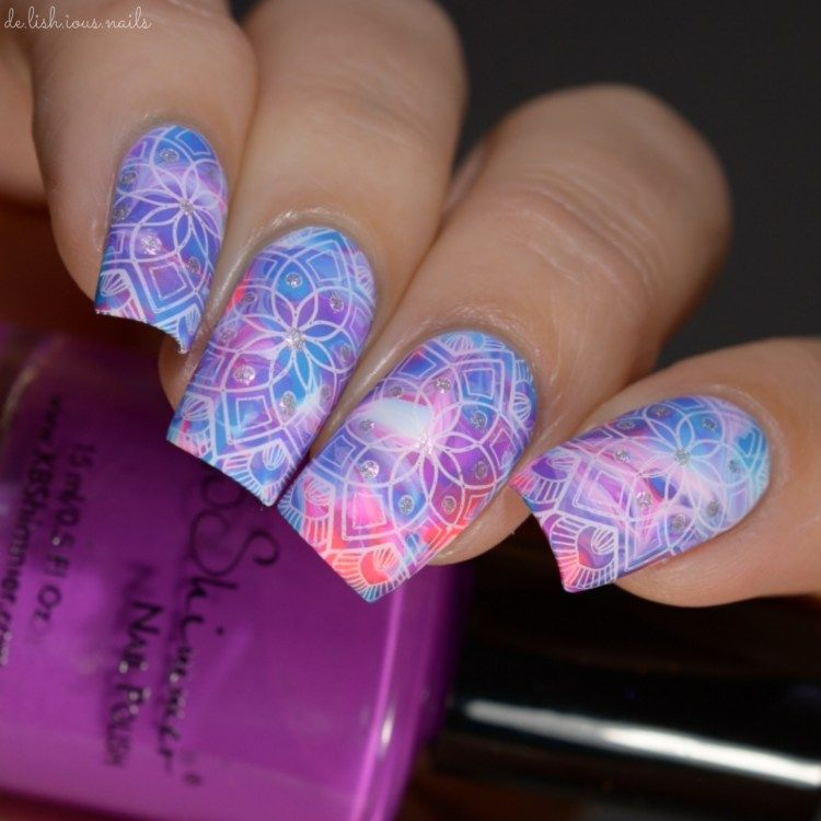 Lina nail art supplies stamping designs mad for mandalas 01 lina nail art supplies stamping designs mad for mandalas 01 smooshy mani base using neons prinsesfo Image collections