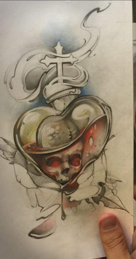 35 Trendy Ideas For Tattoo Sleeve Sketch Draw Awesome Skulls Drawing Sacred Heart Tattoos Tattoo Art Drawings