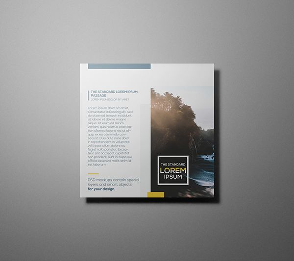 free psd square flyer mockups template