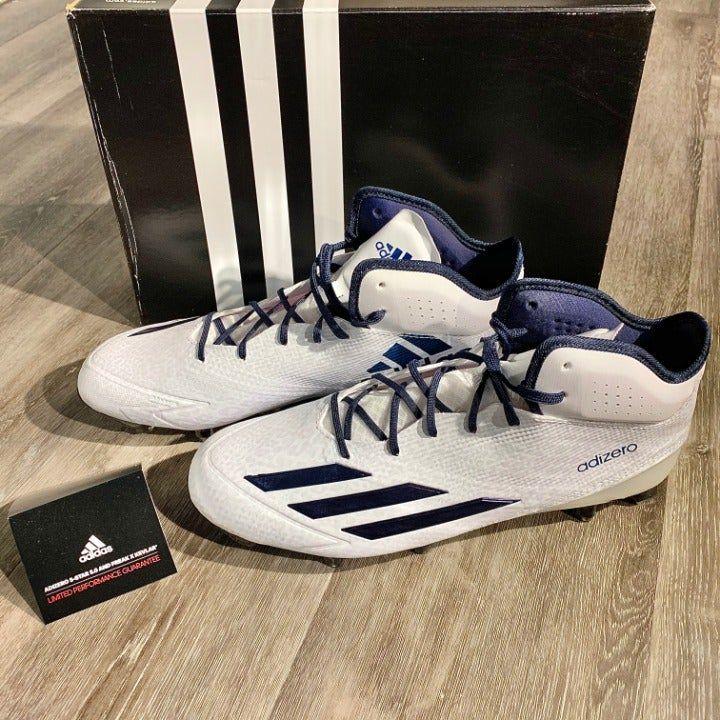 Nib adidas adizero 5star 50 football cleats whitenavy