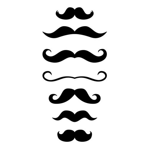 Pochoir moustaches 10x15 cm reference hair beard - Moustache dessin ...