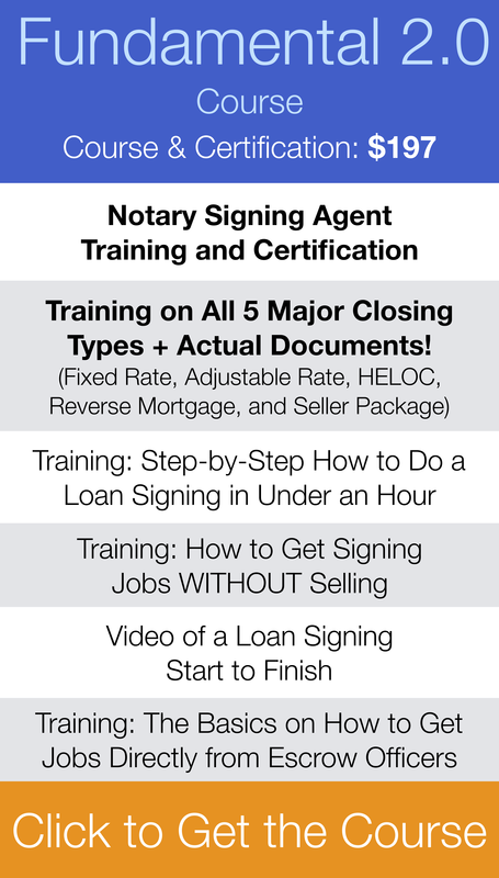 Loan Signing System Notary Agent Training Course Loan Signing Loan Signing Agent Notary Signing Agent