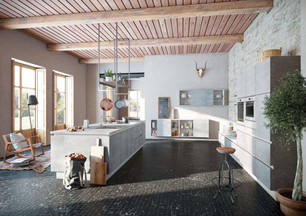 Betonküchen 5 Ideen und inspirierende Bilder für deine - moderne einbaukuechen kochinsel