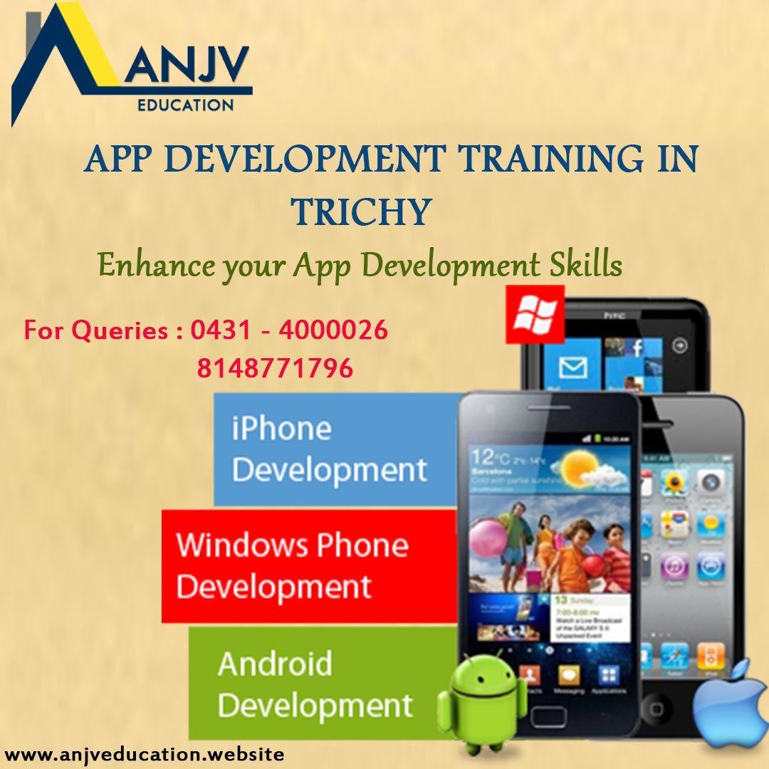 App development courses in ANJVTrainingInstitute. For