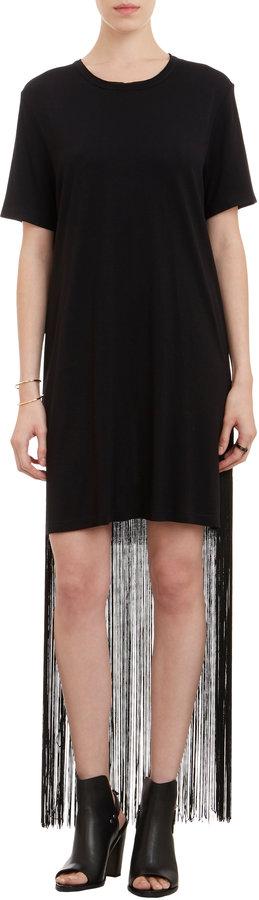 Raquel Allegra Fringed T-shirt Dress on shopstyle.com
