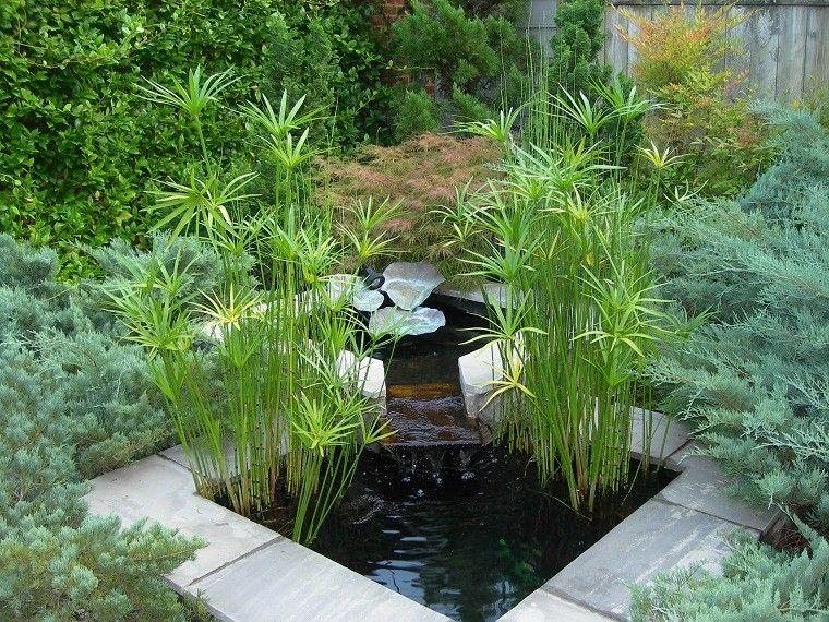 Jard n zen con estanque de agua espacios japoneses - Jardines zen pequenos ...