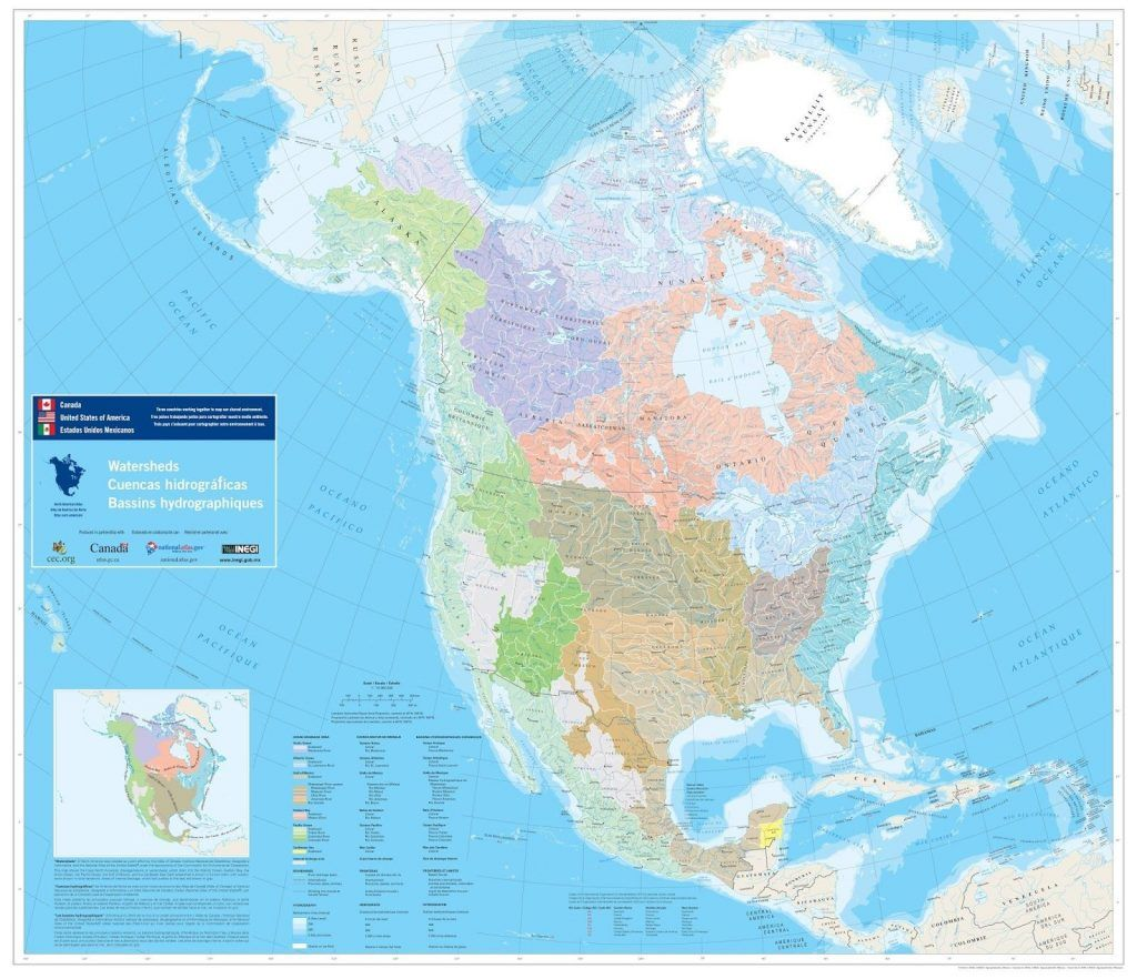 Us Waterways And Mexico Map Inland Waterway Save North American ...