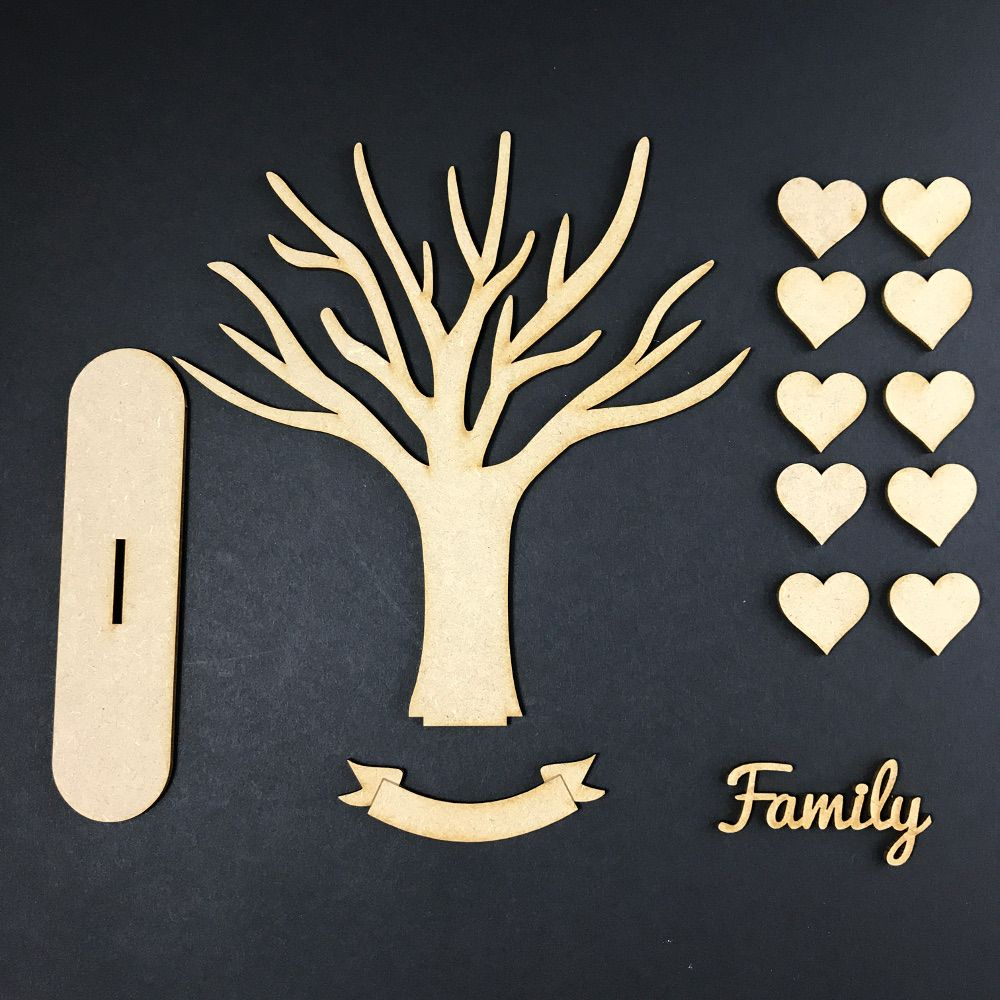 Mdf wooden tree code branch stand kit 나뭇가지
