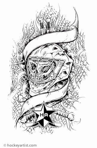 Skull Goalie Mask Protect The Skull Colour Me Kids Sport Tattoos Goalie Mask Hockey Tattoo