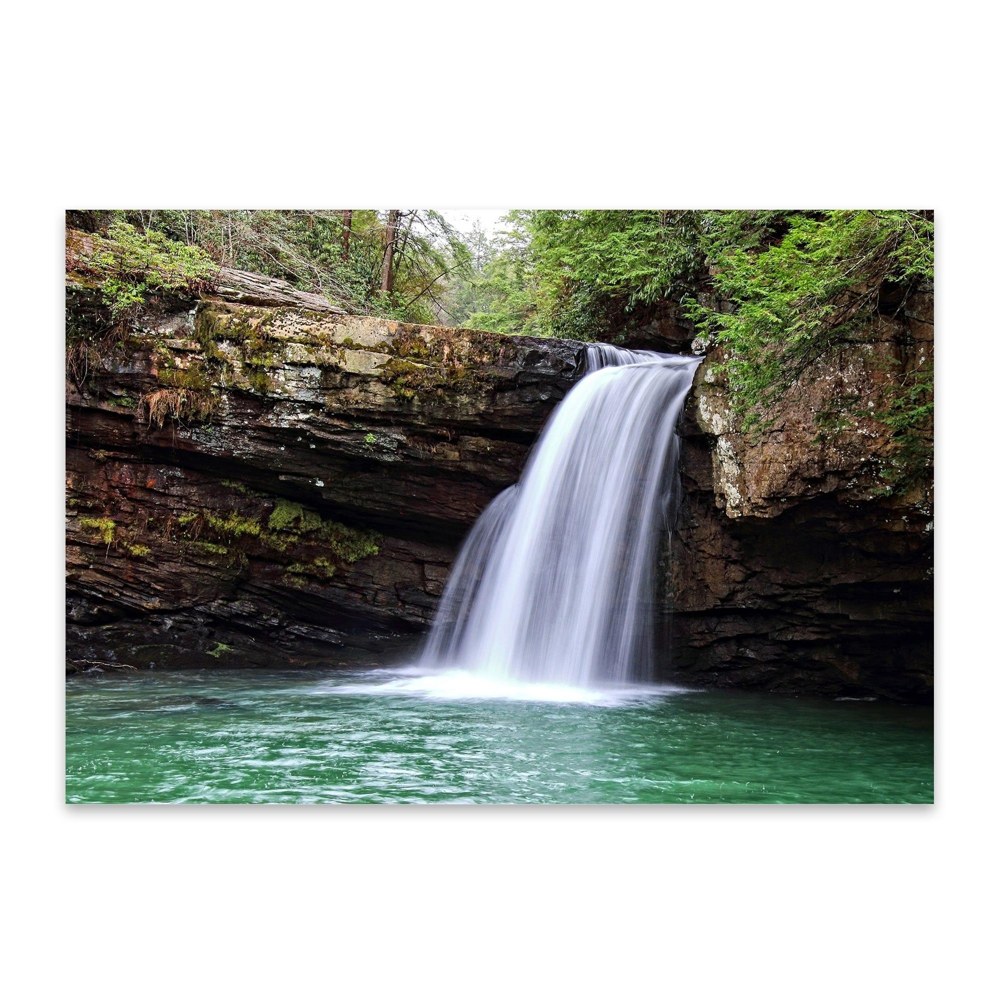Noir Gallery Savage Falls Tennessee Waterfall Metal Wall Art Print