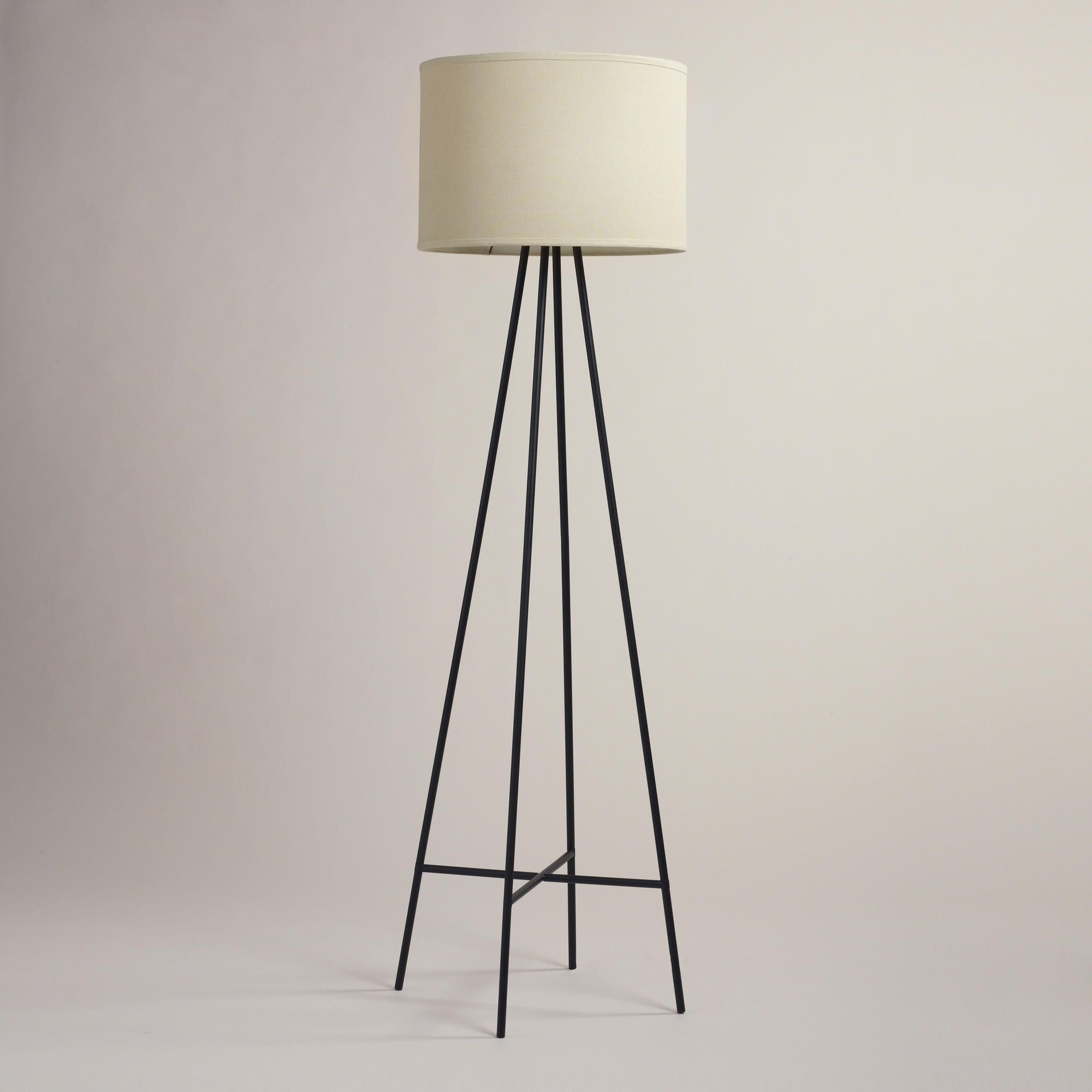Tristan Floor Lamp Stand 72$ (shade solde separately; one thing I dislike  about