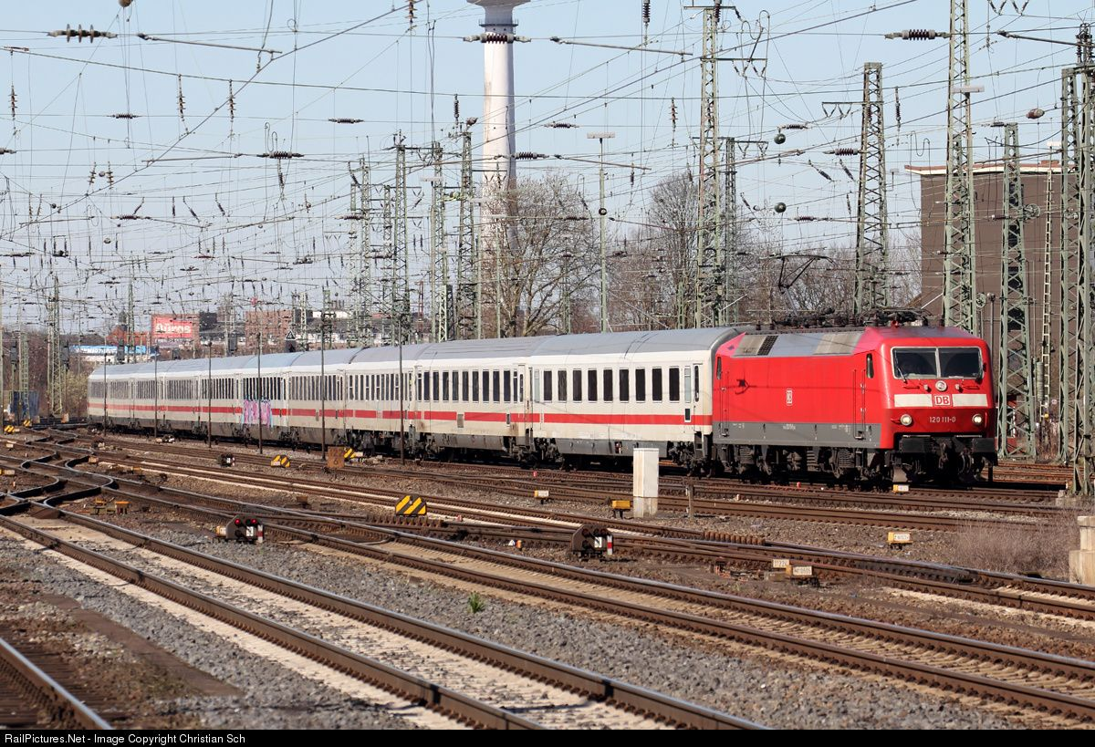 120 1110 Deutsche Bahn AG BR 120 at Bremen, Germany by