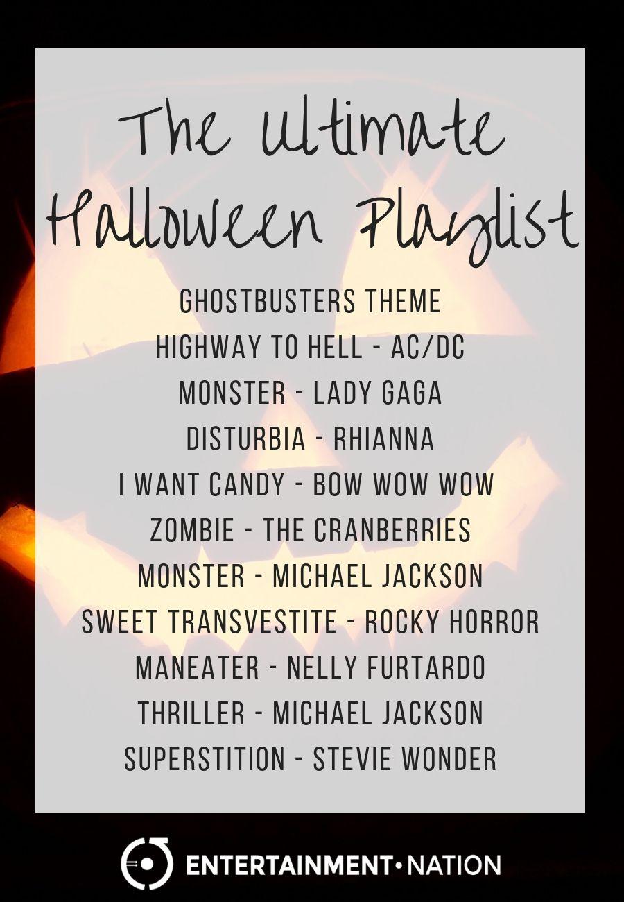 Halloween Music Playlist.The Best Halloween Playlist From Entertainment Nation Halloween