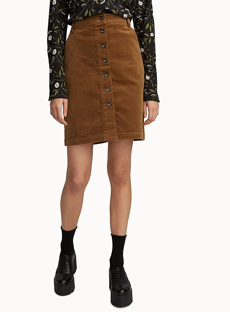 57b8f98f09 Corduroy buttoned skirt | Icône | Shop Knee-Length Skirts Online in Canada  | Simons